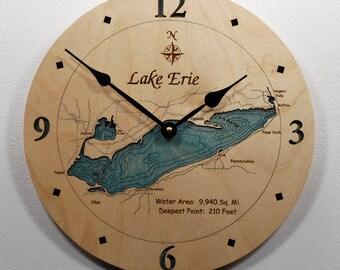 "Lake Erie 12"" Wall Clock"