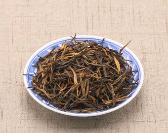 Chinese Black Tea Dianhong Songzhen, Yunnan Dian Hong Needle Black Tea, Free Shipping