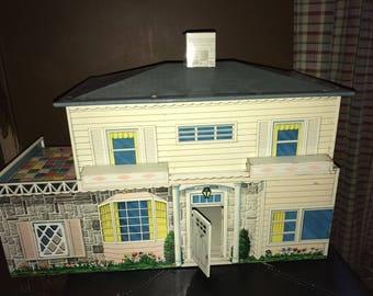 Vintage Tin  5 Room Doll House