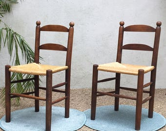 Vintage French straw - mid century chairs chairs