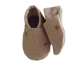Linen Star Baby Shoes