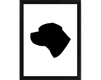 Rottweiler Dog Silhouette PRINT