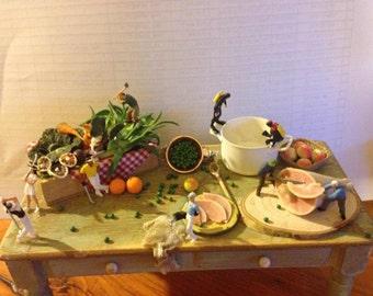 my miniature world, dollhouse miniature, dollhouse food, handmade item