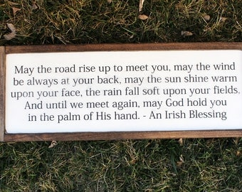 An Irish Blessing FARMHOUSE SIGN
