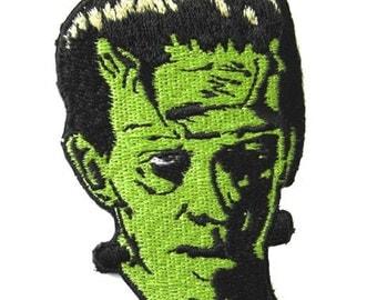 Green Frankenstein Monster Patch