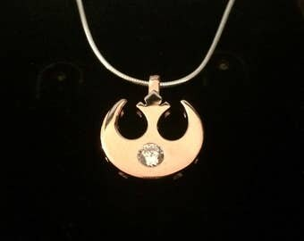 Rebel Alliance Pendant - Cubic Zirconia - Star Wars - OB1 - BB8 - Darth Vader