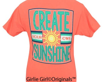 Girlie Girl Originals Create Sunshine Retro Heather Coral Short Sleeve T-Shirt