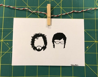 Flight of the Conchords silhouette art print
