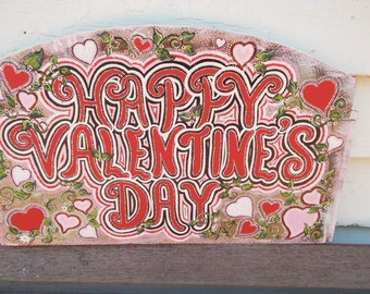 Double Sided Valentine's Day and Christmas Sign