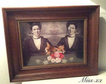 Custom vintage photo. Series: jumelites curious.