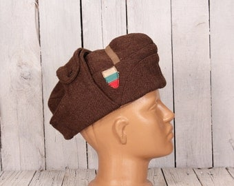 Wool Hat, Soviet Era Military Wool Hat, Winter Hat, Warm Hat, Brown Hat, Ushanka, Steampunk Hat, Red Army Hat, Trapper Hat, Military Hat
