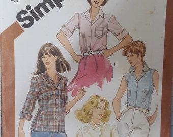 Simplicity 5685 Misses Shirt Size 8 (Bust 31.5)