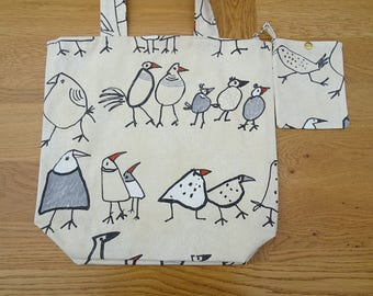 Chicken  Tote Bag  16 x 16 inches  shopping bag , market bag ,beach bag , book bag, etc