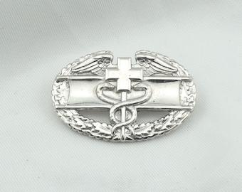 Vintage WWII Combat Medic Sterling Silver Badge/Brooch  #MEDIC-BR2