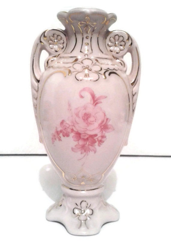 Ceramicspast Vintage Thun Porcelain Vase Pink Porcelain Vase Tk