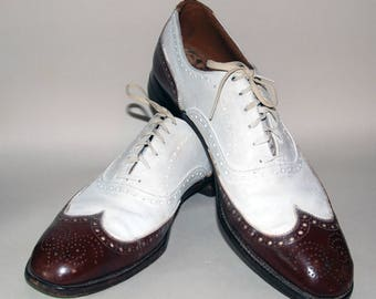 1930's era Wing Tip Spectator Men's Shoes -- Free Shipping!