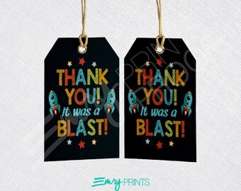 Outer Space Favor Tags, Space Thank You Tags, Space Birthday Party Gift Tags, Space Theme Birthday, Space Gift Tag, Space Thank You Tag