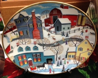 WINTERS EVE Collector Plate Steve KLEIN