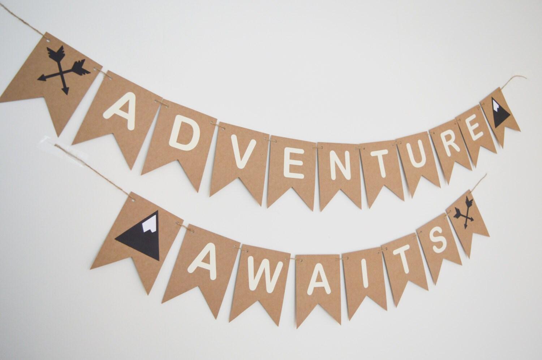 Adventure Awaits Bunting Nursey Decor Kids Childrens Room