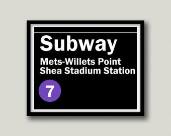 New York Mets Printable Wall Art, Instant Download
