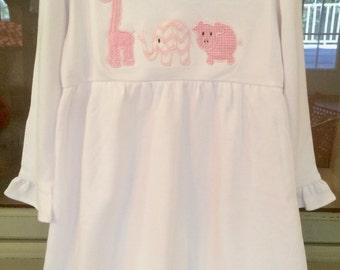 Animal Parade Applique Ruffle Dress
