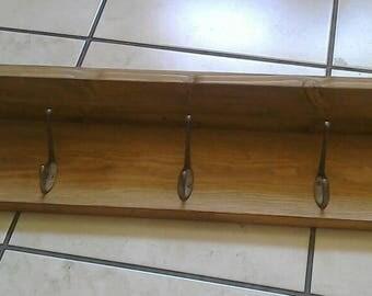 Handmade Rustic Wooden Coat Rack