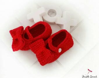 Ruby Mary Jane Baby Slippers -  Crochet Ruby Slippers / Baby Booties / Trendy Baby / Baby Accessories / Baby Shower Gift / Baby Fashion /