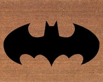 Batman   Caped Crusader   Dark Knight Door Mat   Coir Doormat Rug   2u0027