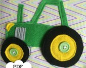 Tractor Quiet Book Page PDF Pattern