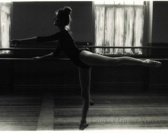 Audrey the Ballet Dancer / Ballerina Art Photography / 35mm Photo / Black and White / Female Dancer / Human Form / 5 x 7 Picture