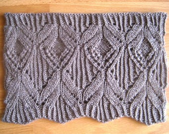 Josephine Lace Cowl knitting pattern - Instant Download PDF
