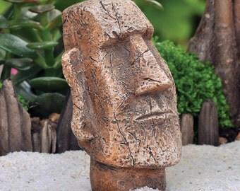 Fairy Garden  - Easter Island Moai Statue - Miniature