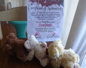 Human Centipede Teddy Bear Replica - BEARIPEDE! Ooak Horror Teddy Bear with COA!!