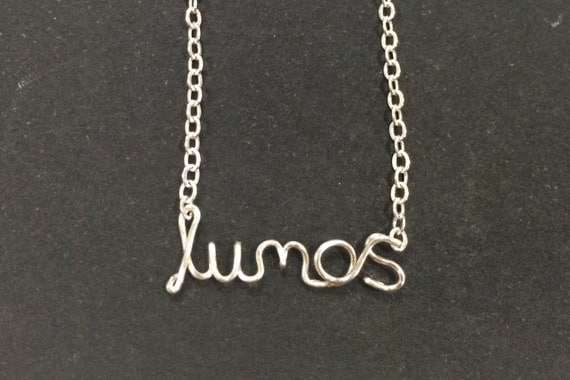 Harry Potter Spell necklace - Lumos / The Cursed Child / Gryffindor / Slytherin / Hogwarts / Deathly Hallows / Quidditch