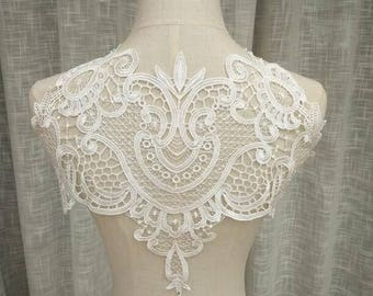 1pc Off White Lace Super Luxury Lace Appliques Exquisite For Wedding Dress Grown Bridal Veil