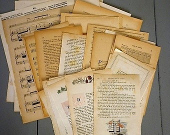 30 ephemeral pages of French books - kit inspiration - kit de bricolage - life projects