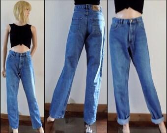 Womens boyfriend high waist jeans 31 inch waist inside leg 33.5 inches long high waist jeans