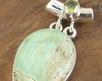 PENDANT in VARISCITE peridot jewelry Variscite, jewelry, healing stone variscit vk27 jewels