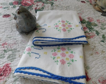 French Country Flower Pillowcases! 1940s