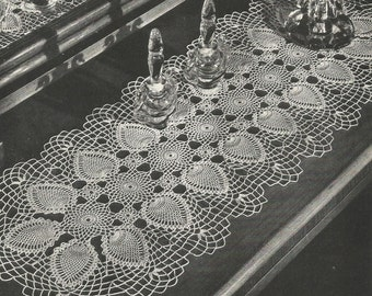 PDF 3 Pineapple Crochet Patterns Doily Runner Oval Doily Table Topper Center Piece Round Doily