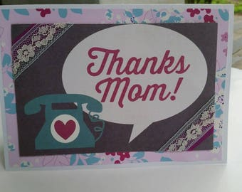 Thanks Mom 5x7 Card