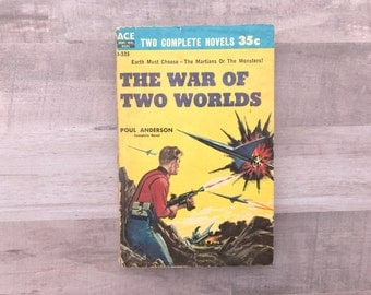 War Of Two Worlds - Poul Anderson - Threshold Of Eternity - John Brunner - Double Book - Ace Book - Double Novel - 1959 - Vintage Book
