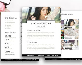 Media kit template etsy blogger media kit template 3 pages blog media press kit template electronic press pronofoot35fo Image collections