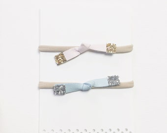 Leather Sparkle Knots (newly redesigned!)