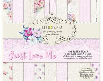 Lemoncraft Just Love Me 6x6 Designer Paper Stack