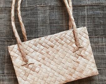Sale! VTG RATTAN BAG // 70's Clutch Handbag Sea Grass Purse Made in Philippines Small Woven Purse Wicker Purse Rattan Purse