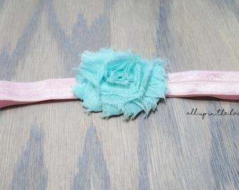 Pink And Blue Baby Headband
