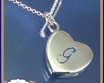 Cremation Urn Jewellery - Heart Cremation Urn Pendant - In Memory Of Jewellery -  Cremation Jewellery - Personalised Urn Necklace - Jewelry