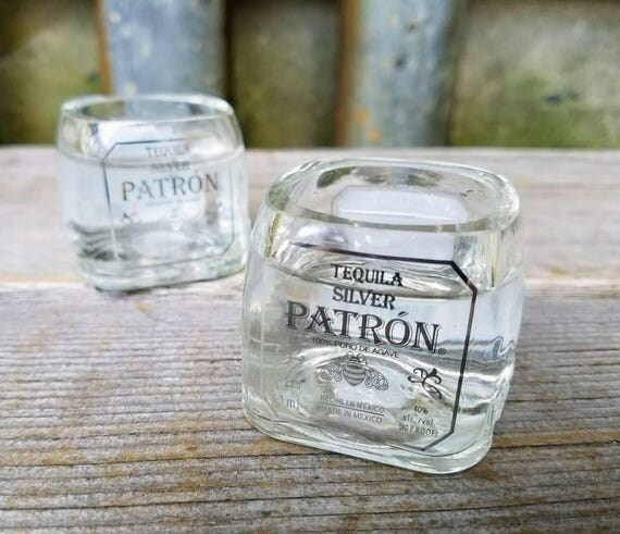 Upcycled Patron Tequila Shot Glasses