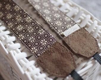 Handmade Camera Strap *brown pattern*
